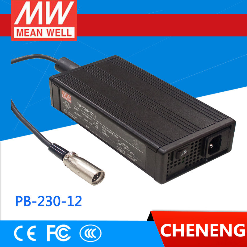 MEAN WELL original PB-230-12 14.4V 16A meanwell PB-230 14.4V 230W Single Output Battery Charger