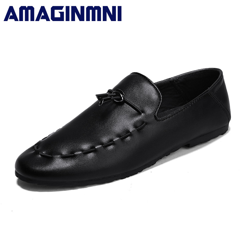 AMAGINMNI New arrival Low price Mens Breathable High Quality Casual Shoes Leather Casual Shoes Slip On men Fashion Flats Loafers npezkgc new arrival casual mens shoes suede leather men loafers moccasins fashion low slip on men flats shoes oxfords shoes