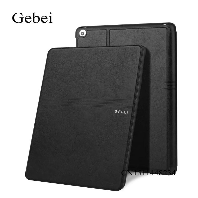 for iPad 2 3 4 case cover, Gebei luxury Ultra-thin cover Leather Case smart sleep /wake up cover for ipad 2 ipad 4 stand case