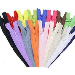 8pcs 3# 28cm 35cm 40cm 50cm 55cm 60cm Long Invisible Zippers Purple Orange Green Black DIY Nylon Coil Zipper For Sewing Clothes