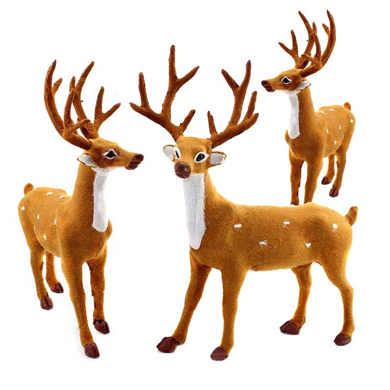 Home Tree Decor Ornament Christmas Deer Reindeer Santa Craft Elk Xmas  Decoration Ornaments Supply M09-in Stuffed & Plush Animals from Toys &  Hobbies on ... - Home Tree Decor Ornament Christmas Deer Reindeer Santa Craft Elk