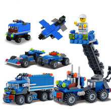163pcs DIY Transport Dumper Truck Assembling Small Particles Building Blocks Brick Educational Toys For Children Legoeing K03