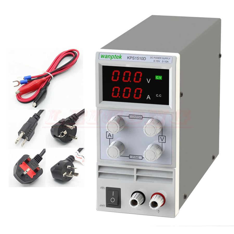 Wholesale KPS1510D 15V 10A digital adjustable Mini DC Power Supply Switch DC power supply 110/220V 0.1V 0.01A KPS1510DF 0.001A cps 6011 60v 11a digital adjustable dc power supply laboratory power supply cps6011
