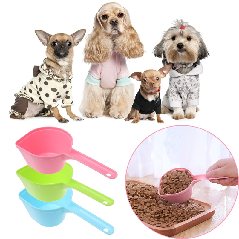 1Pc High Quality For Pets Feeding Cat Dog Food Pet Shop Feeding Spoon Plastic Shovel Dog Food Shovel Pet Supplies image