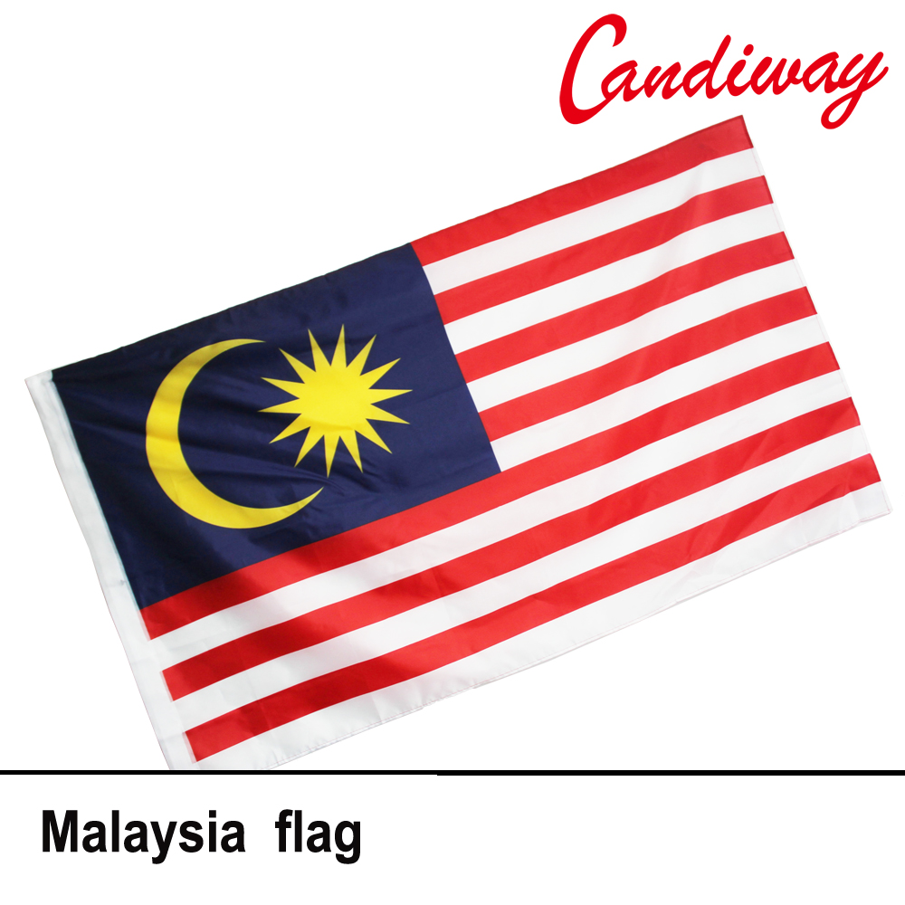 10pcs lot national flag country flag stick flags flag of the united - 90 X 150cm Malaysia Flag Polyester Large Big Flags Malaysian Banners National Flag Nn089 China