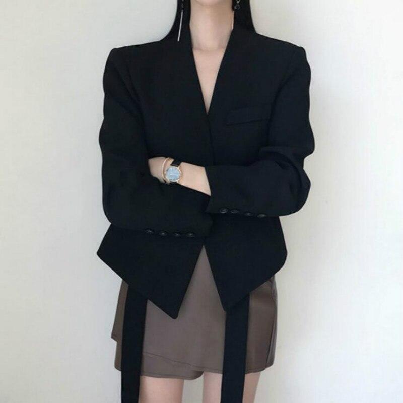 Con Larga Mujeres Mujer Púrpura Chaqueta Online 2018 Blazer Otoño Abrigo V único Elegante Baratos cuello Botón Comprar Invierno Manga Traje Cinturón Ozwx0q0v