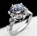5 Carat ct Moissanite Laboratorio Crecido anillo de Compromiso de La Boda de Color F Anillo de diamantes Con Acentos de Diamante Sólido 14 K 585 Blanco Real oro