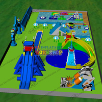 large number of products Inflatable water park supporting