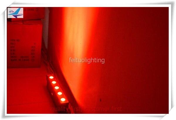 (6 Лот/case) светодиодные полосы освещение стены 6X18 Вт RGBWA УФ 6in1 питание от аккумулятора беспроводной DMX LED IP65 прожекторы