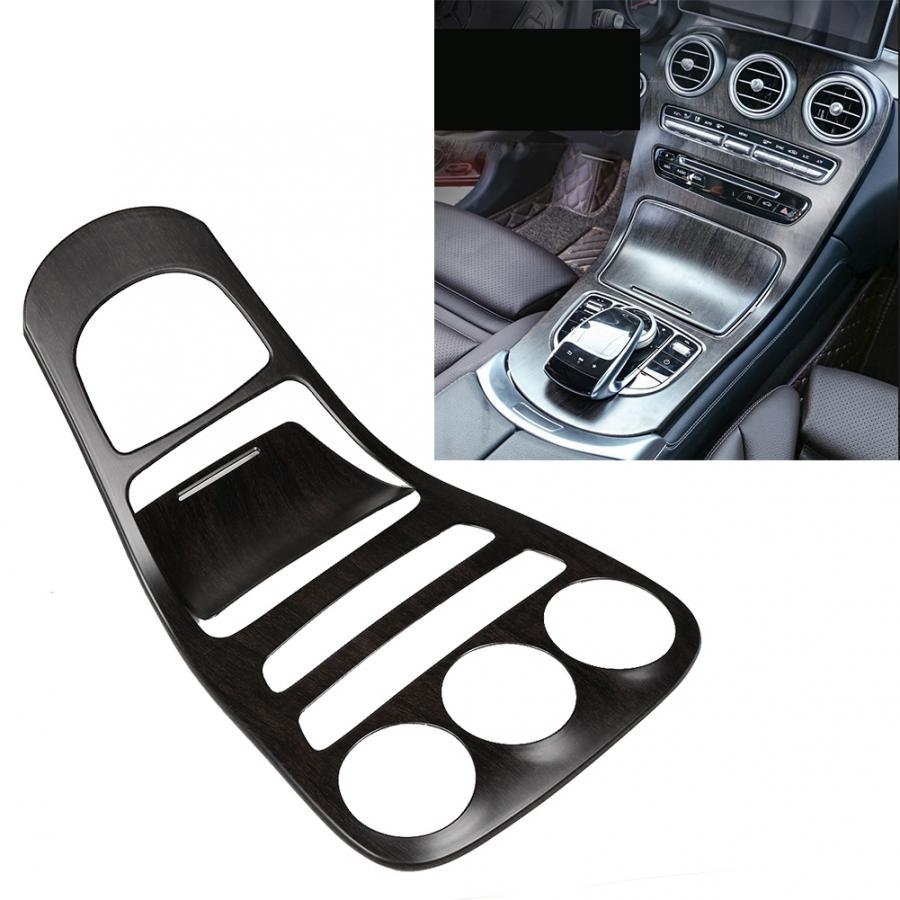 2pc/set Console Gear Shift Panel Cover Trim Fit For Mercedes-Benz C-Class W205 Oak Wood Color Araba Aksesuar