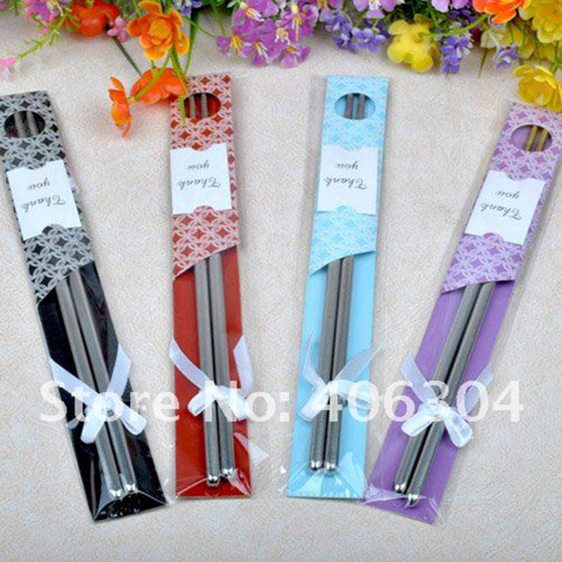 Stainless Stell Chinese Chopsticks Beautiful Packaging Wedding Gift