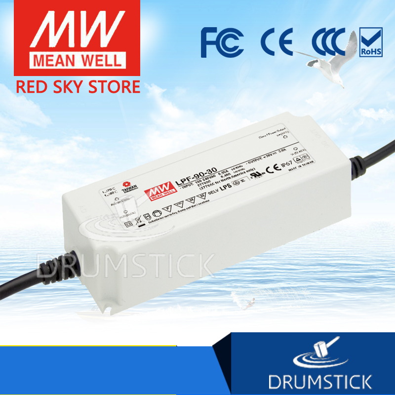 Advantages MEAN WELL LPF-90-20 20V 4.5A meanwell LPF-90 20V 90W Single Output LED Switching Power Supply 1mean well original lpf 90 15 15v 5a meanwell lpf 90 15v 75w single output led switching power supply