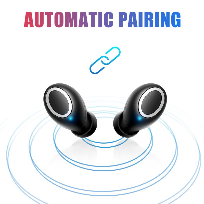 4D Stereo Sound Bluetooth V5 0 Earphone Portable TWS Wireless Touch Earbud  With Charge Case Sport Bass Headset Auto Power On/Off