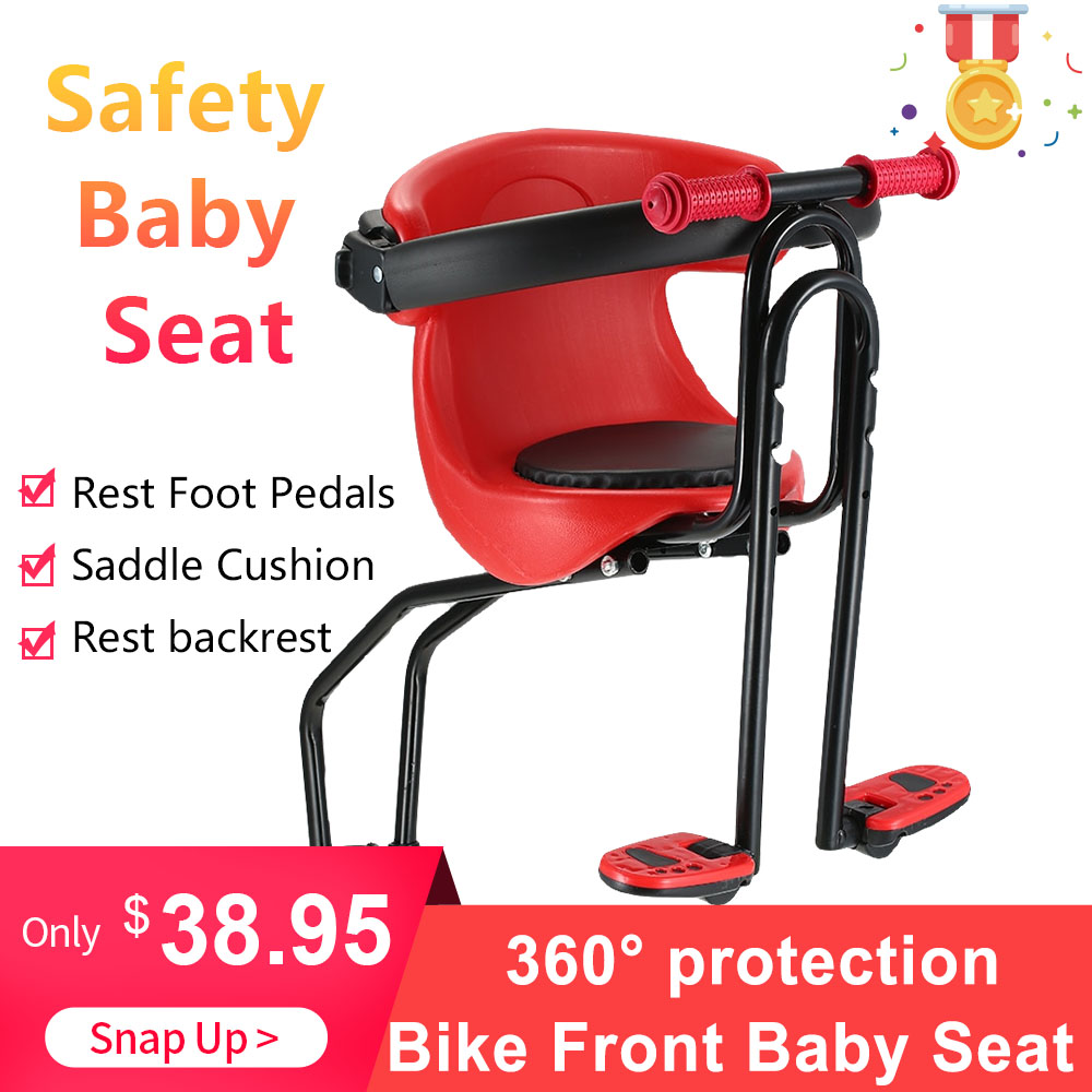 Hot Sale Bicycle Safe Baby Seat Child Safety Carrier Front Seat Saddle Cushion with Back Rest