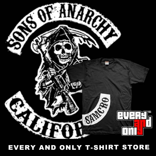 Sons of Anarchy Samcro T-Shirt Blu Navy