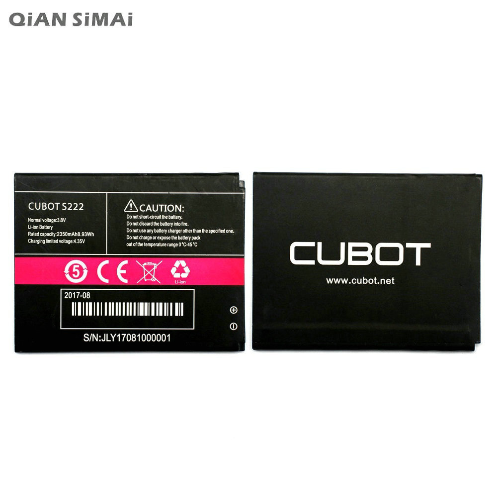 QiAN SiMAi 2350 mAh batería de alta calidad recargable para Cubot S222  batería del teléfono móvil Bateria + código de seguimiento 0d3998148cf6
