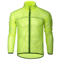 Fluo Green Black White Colors Cycling Raincoat Breathable Ultrathin Cycling Rain Wear Long Skinsuits S XXXL