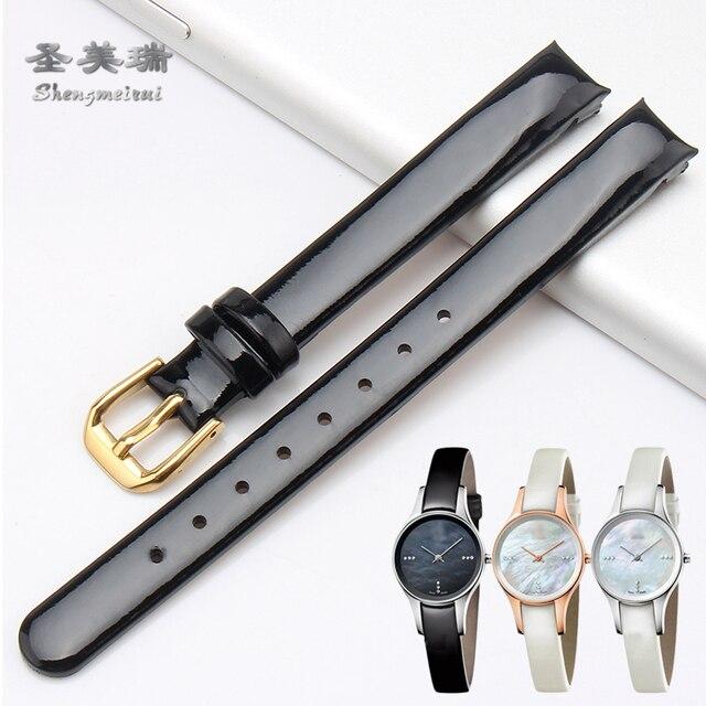 10 MM Véritable Bracelet En Cuir POUR Calvin Klein Plié Bracelet Noir brun  Bleu  08ba83899be