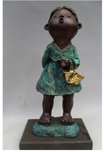 Cobre De Bronce Chino Artesanía Decor Ación Asiático 15 Puro Mármol Western Art Escultura Abstracta Por Chica Campan