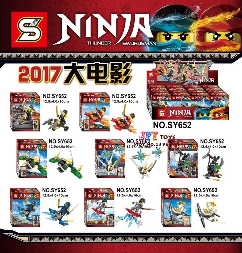 8pcs star wars Game Catoon Zombie Ninja DIY building blocks model bricks Baby toys for children juguetes