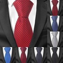 Necktie Men Ties Groom Wedding Slim Plaid Tie Striped Fashion Women for Classic Party