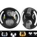 """2 ШТ. 7 """"50 Вт КРИ Чипы, СВЕТОДИОДНЫЕ Фары для Jeep CJ/Wrangler JK 7 7-дюймовый Led Вождения Свет для Land Rover Defender H4 H13 фары"""