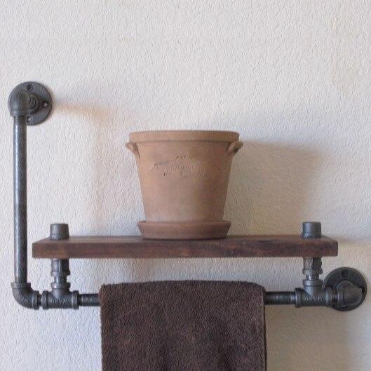 Amerikaanse industriële loft stijl smeedijzeren wandplank badkamer ...