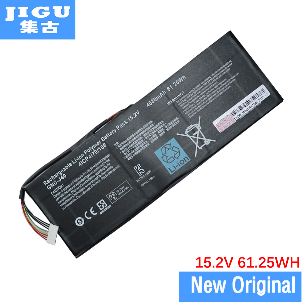 JIGU Original Laptop battery 916TA013F GNC-J40 For SCHENKER XMG C504 FOR GIGABYTE P34 V4 P34G V2 P34W V3 V4 slim laptop charger 19 5v 7 7a 19v 7 9a ac power adapter for gigabyte aero 14 15 15w v8 15w bk4 p34k v3 v5 p34w v3 v4 v5 p35g v2