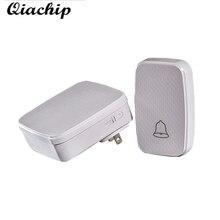 QIACHIP Wireless Remote Control Switch Doorbell 300M AC 100-240V Waterproof US Plug Smart Door Bell Battery