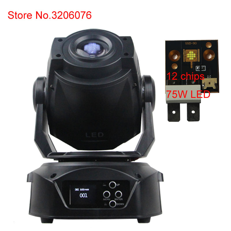 hot sale 14 channels DMX 512 control 75W LED spot moving head stage light steady led driver with bracket manual signal line