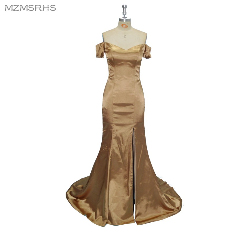 MZ-MSRHS Simple Prom Dress 2017 Stylish Mermaid Backless Long Party - Special Occasion Dresses