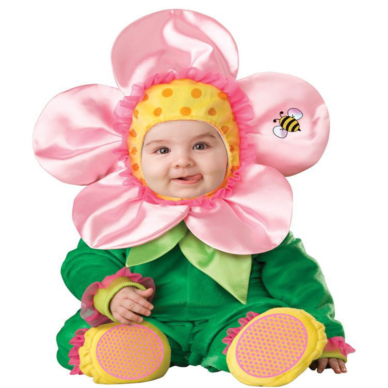 2019 New Design Arrival Christmas Xmas Holiday Halloween Costume Infant Baby Girls Flower Rompers Cosplay Toddlers Clothes