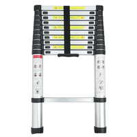 3.2m Multi Purpose Alloy Aluminum Retractable Multifunctional Telescopic Single Straight Extension Extendable Ladder