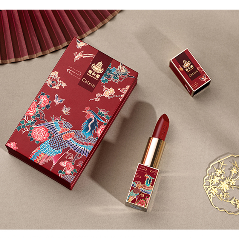 Image 5 - CATKIN 3 Colors Lipstick 3.6g Waterproof Moist Semi Matte Smooth Soft Texture Protects Lip SkinLipstick   -
