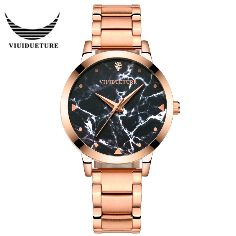 VIUIDUETURE Brand relojes mujer 2017 Fashion Ladies Starry Sky Series Quartz Watches Women Alloy Rhinestone Waterproof Watch