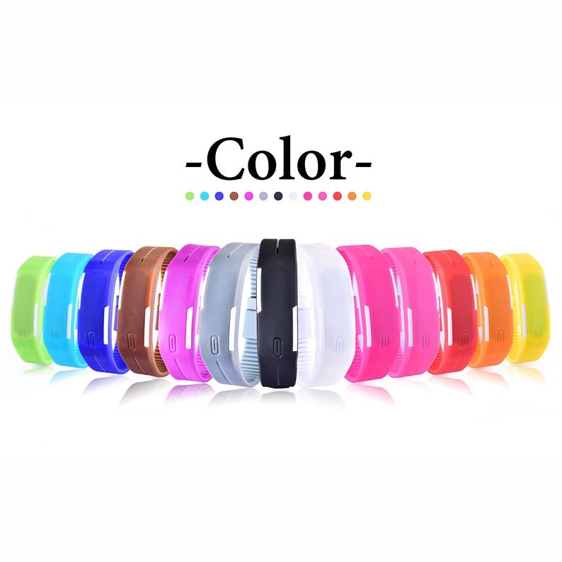 Novo Relógio Digital de LED relógio Das Mulheres Dos Homens Relógios de Borracha Colorido Criativo Calendário Inteligente LED Eletrônico Relógios montre femme