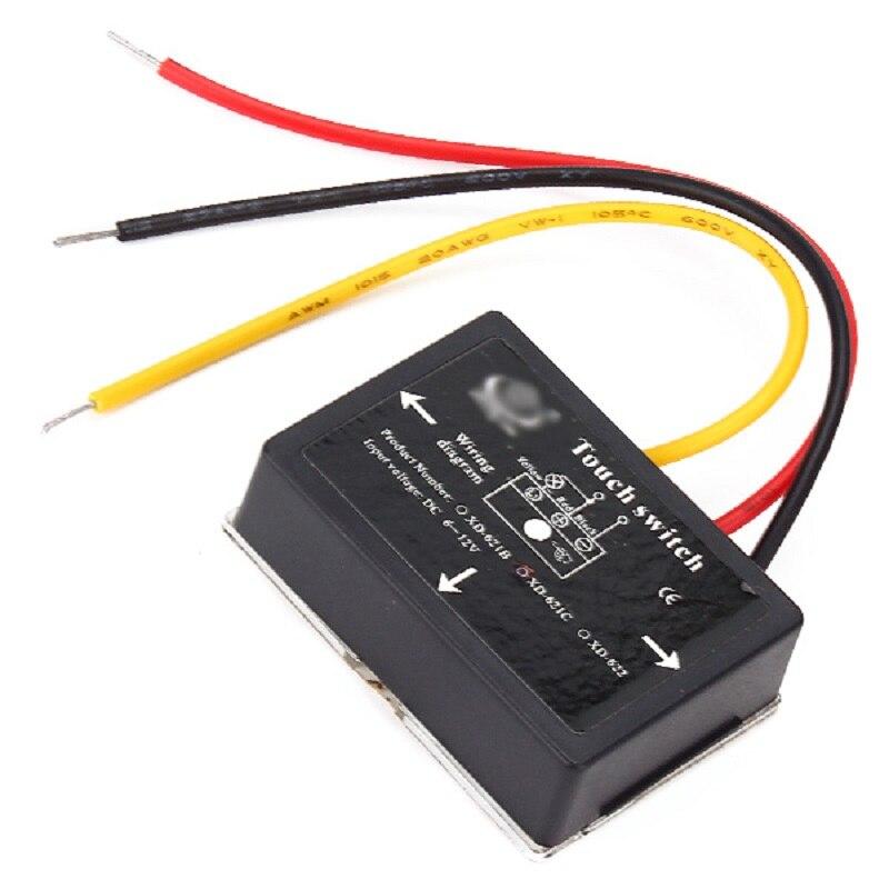 10/20/50/100 pièces XD-622 6-12 V DC 36 W continu gradation tactile interrupteur pour lampes LED etc. - 4
