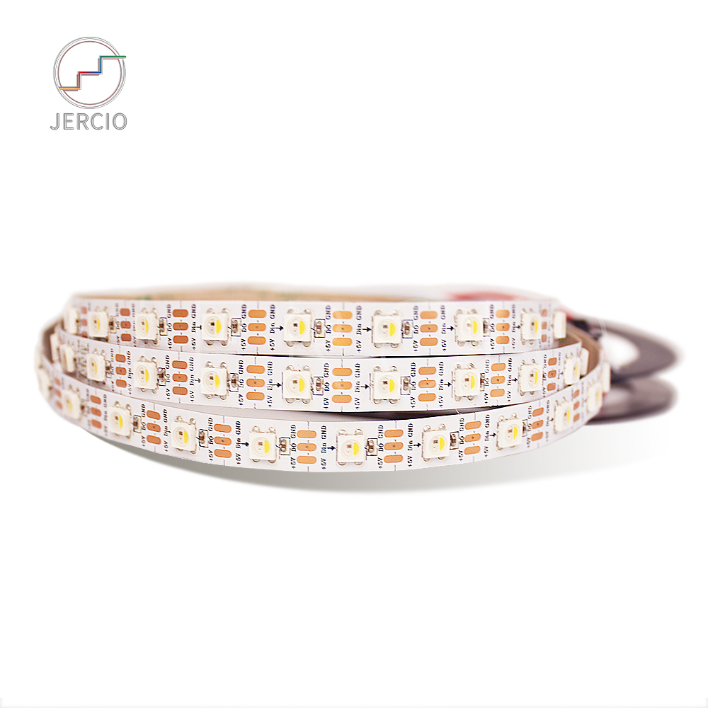 JERCIO WS2812B-RGBW Like SK6812 IC 30/60/144 Leds/pixel/m; 1m/4m/5m Individual Addressable Led Strip IP30/IP65/IP67/ DC5V