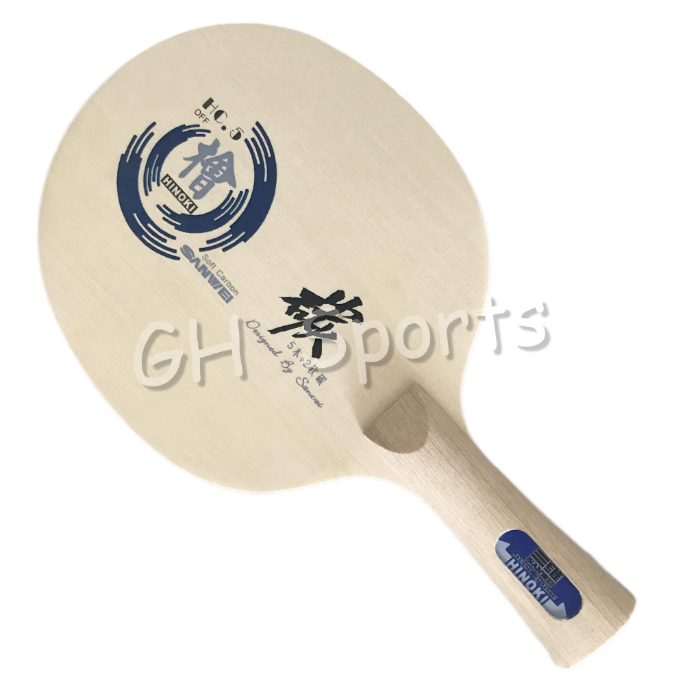 Sanwei HC.5 HC-5 HC 5 HC5 HINOKI Soft-Carbon Table Tennis Blade for PingPong Racket sanwei hc 3 hc 3 hc 3 hc3 hinoki carbon off table tennis blade for pingpong racket
