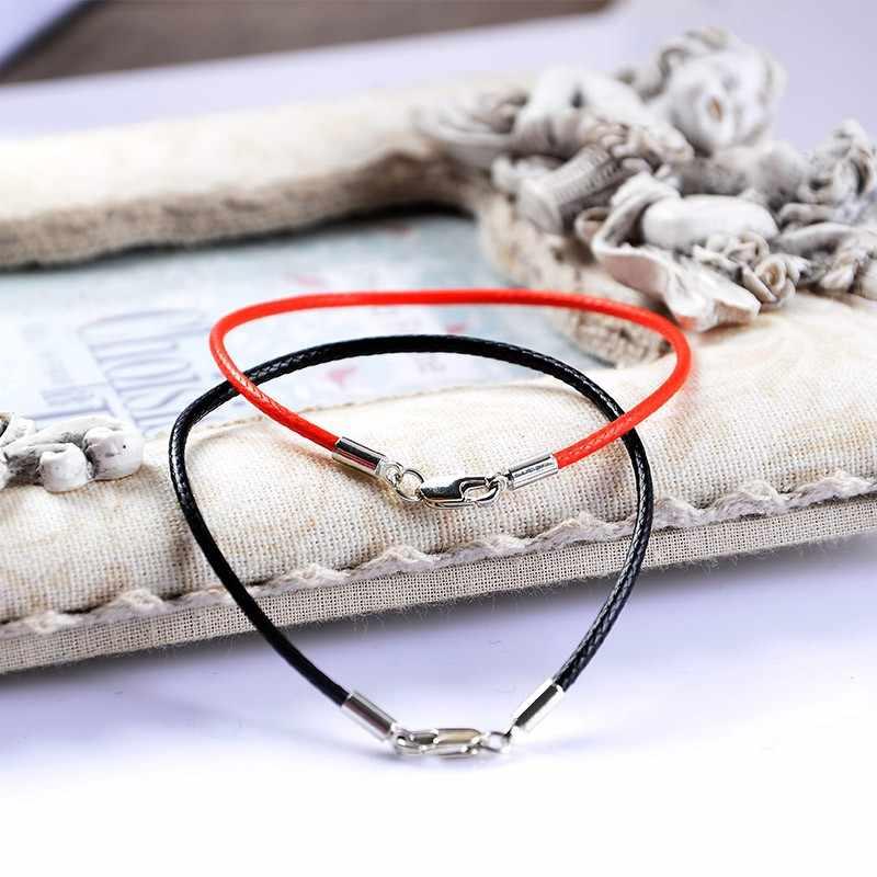 Moda klasyczna czerwona linka skóra czarna bransoletka czerwona linia nici biżuteria bransoletka z czerwonego sznurka dla kobiet mężczyzn Lobster bransoletki