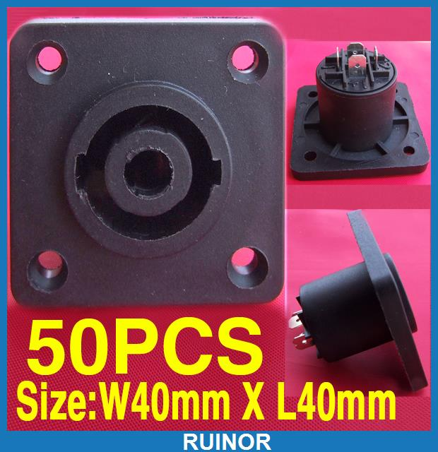 ФОТО 50ps 4 Pole Speaker Chassis Socket Plug Connector AV DJ