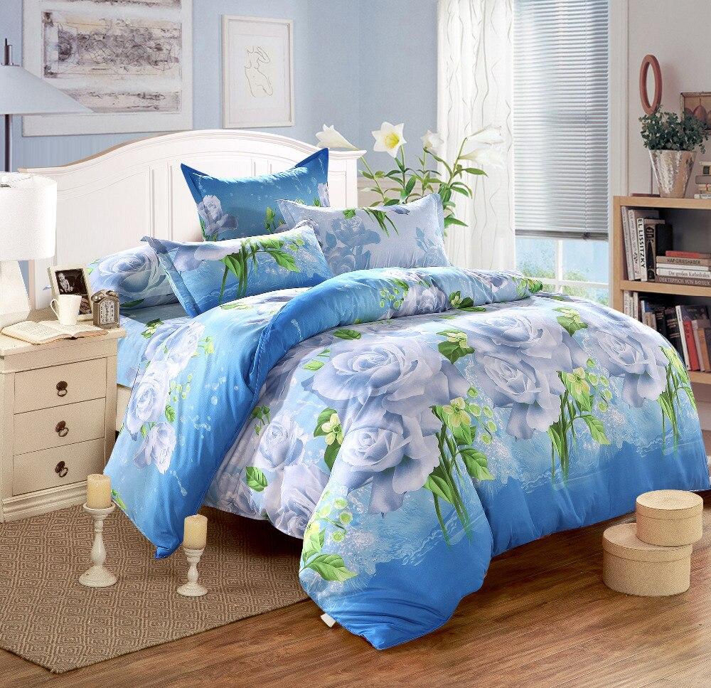 Ensemble de literie, textiles de Maison 4 pc motifs Géométriques rayures drap de lit + housse de couette + taie d'oreiller housse de couette dekbedovertrek