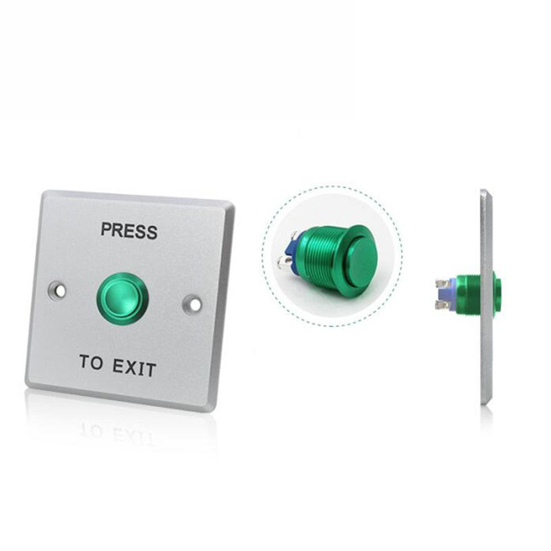 Access control accessory press to exit 12V NO NC COM switch door open exit buttonAccess control accessory press to exit 12V NO NC COM switch door open exit button