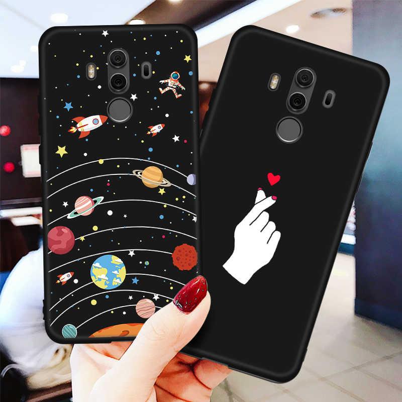 Silikon Tpu Pola Case Pelindung untuk Huawei Y5 Y6 Y7 Prime 2018 Kehormatan 7C 7A Pro 7 C 7X8X7 S Telepon Case Kembali Cover Coque