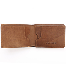 Male Genuine Leather Business Wallets Rfid Blocking