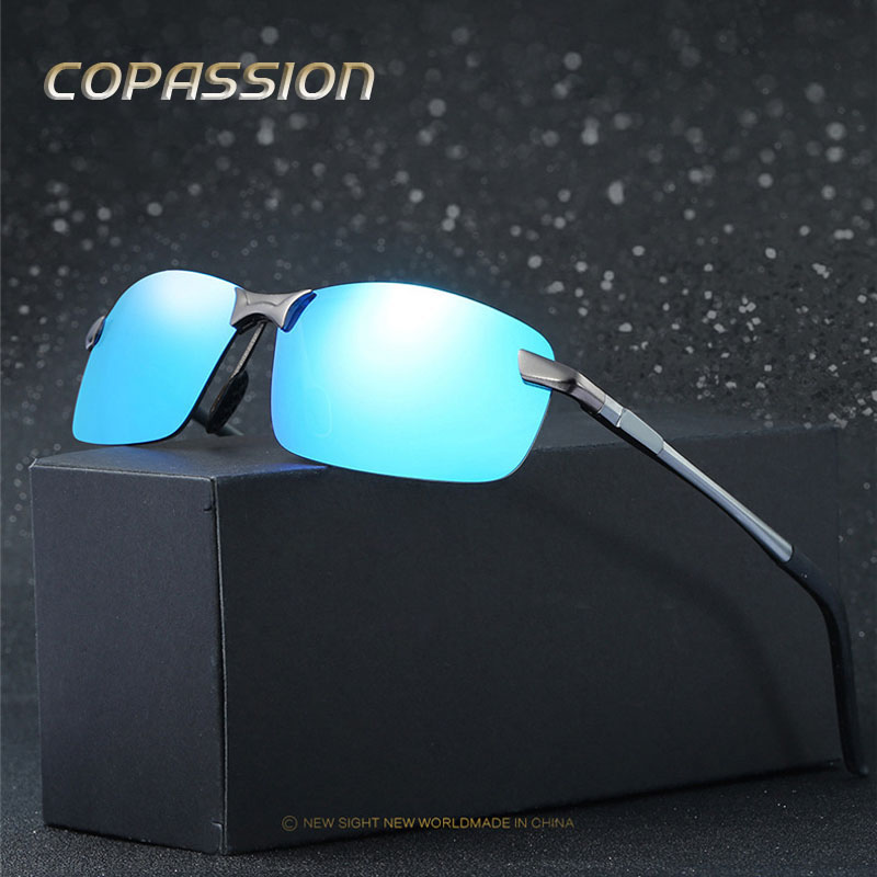 2017 Brand Polarized Sunglasses Men women Rimless design Sport Sun Glasses Driving Goggle UV400 Eyewear oculos de sol masculino ...