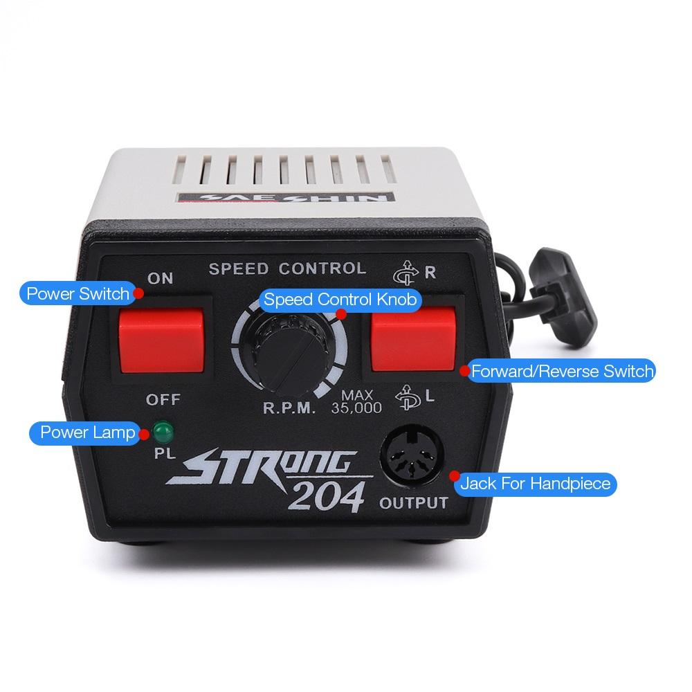 Описание функционала кнопок Аппарата Стронг 204 для маникюра