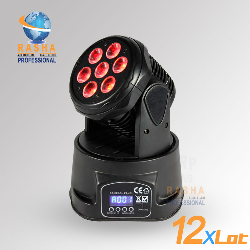 12pcs/LOT China Supplier HOT 7*12W 4IN1 RGBW MINI LED Moving Head Light LED Moving Head Light12pcs/LOT China Supplier HOT 7*12W 4IN1 RGBW MINI LED Moving Head Light LED Moving Head Light