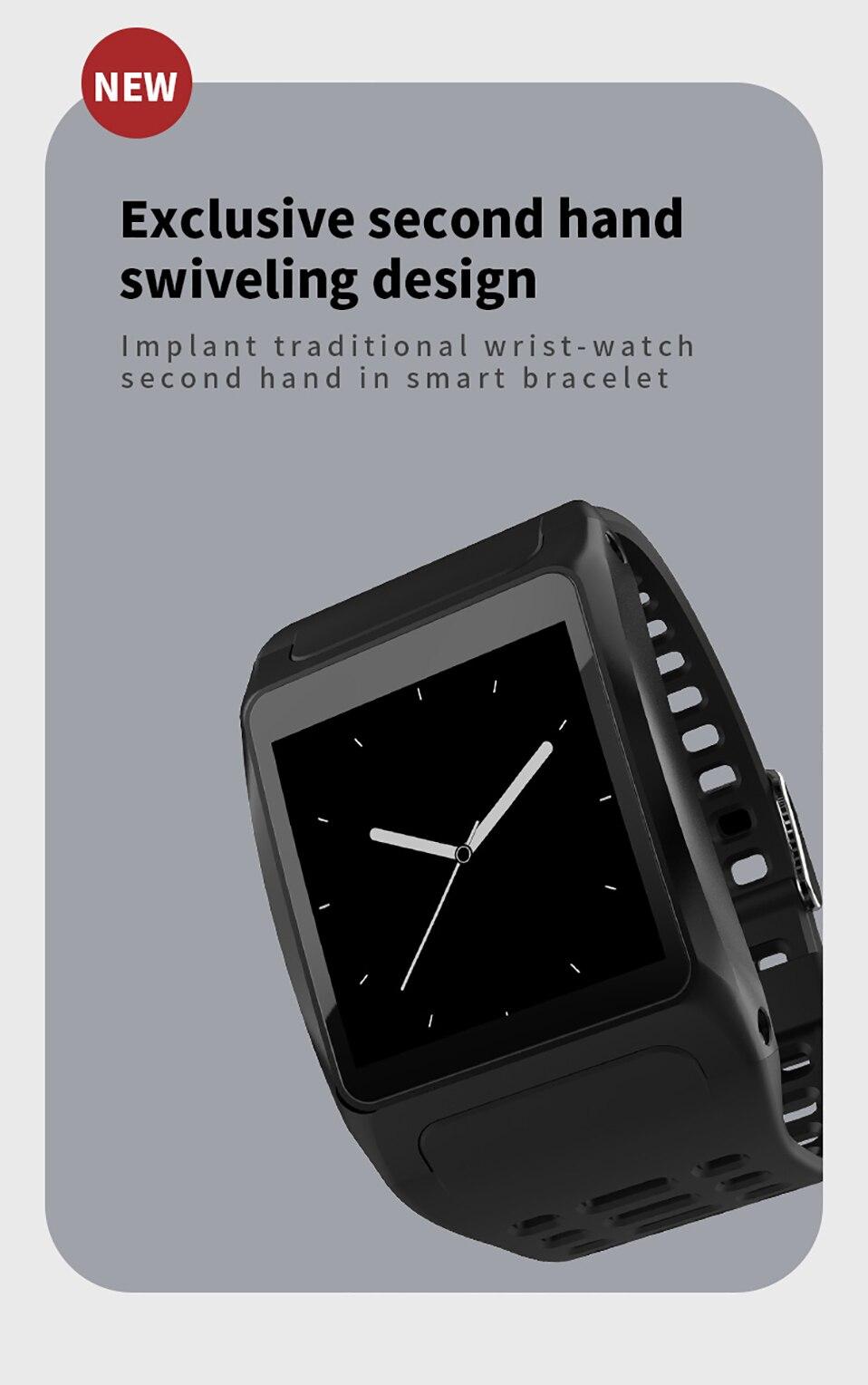 ALANGDUO Z01 Smart Watch Color Screen Smart Wristwatch Big Dials Heart Rate Monitor Micro sensor Waterproof Smart Watch Bracelet (3)