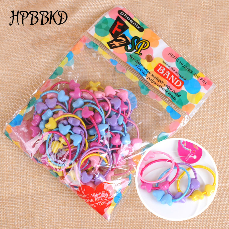 30pcs/lot Baby Girl Headwear Children Kids Hairband Rope Ponytail Holder Baby Girl Elastic Hair Band Ties Braids BHW-016